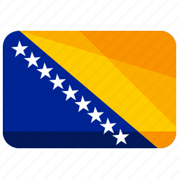 bosnia, country, flag, herzegovina icon