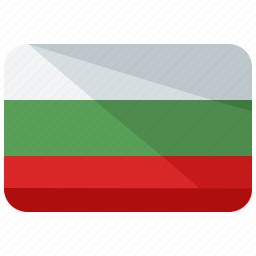 bulgaria, country, europe, flag, location, map, world icon