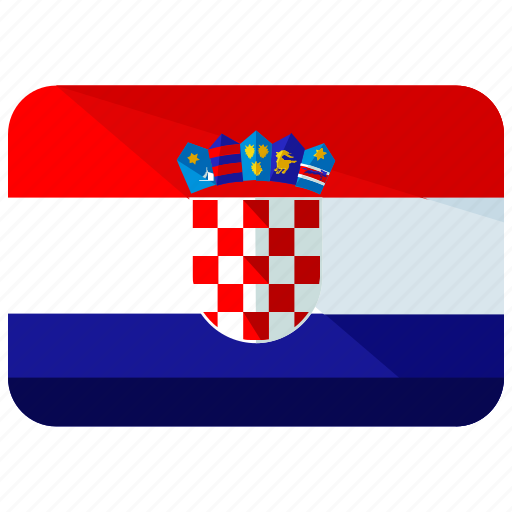 country, croatia, europe, flag, location, map, world icon