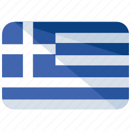 country, europe, flag, greece, location, map, world icon