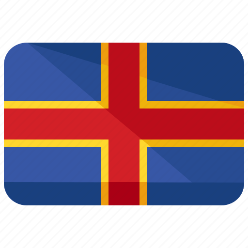 country, flag, iceland icon