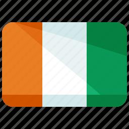 country, europe, flag, ireland, location, map, world icon