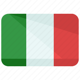 country, europe, flag, italy, location, map, world icon