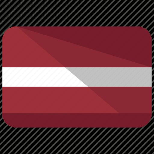 country, flag, latvia icon
