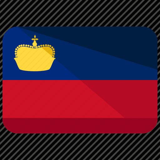 country, europe, flag, liechtenstein, location, map, world icon