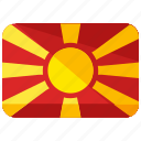 country, europe, flag, location, macedonia, map, world icon