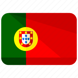 country, europe, flag, location, map, portugal, world icon