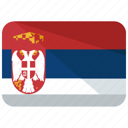 country, europe, flag, location, map, serbia, world icon