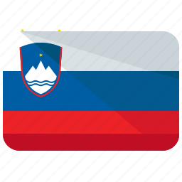 country, europe, flag, location, map, slovenia, world icon
