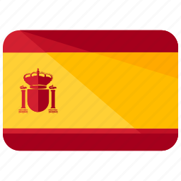 country, europe, flag, location, map, spain, world icon