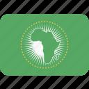 african, union, african union, africa, flag, flags