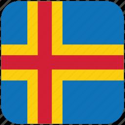 aland, flag icon