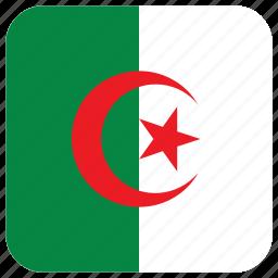 algeria, flag icon
