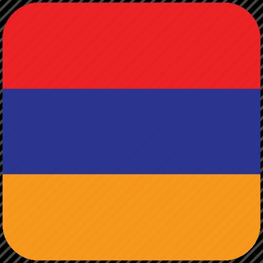 armenia, flag icon