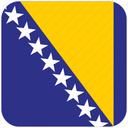 bosnia, flag icon