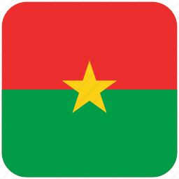 burkina faso, flag icon