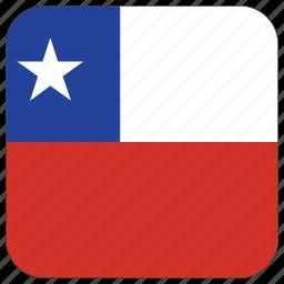 chile, flag icon