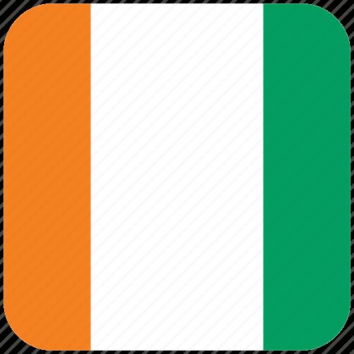 cote d'ivoire, flag icon