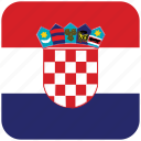 croatia, flag icon