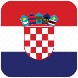 croatia, flag icon