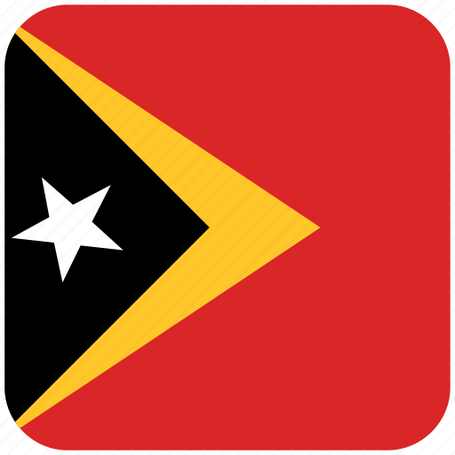 east timor, flag icon