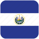 el salvador, flag icon