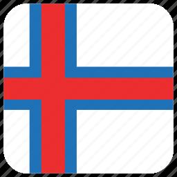 faroe island, flag icon