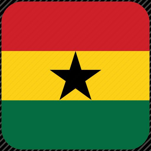 flag, ghana icon