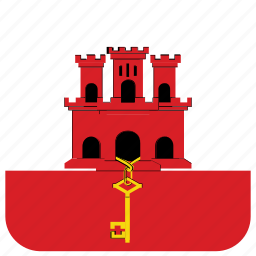 flag, gibraltar icon