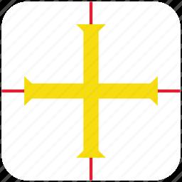 flag, guernsey icon