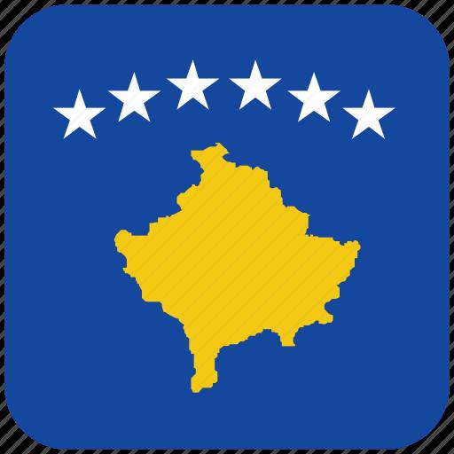 flag, kosovo icon