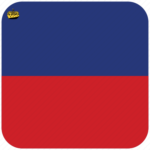 flag, liechtenstein icon