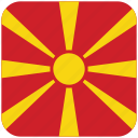 flag, macedonia icon
