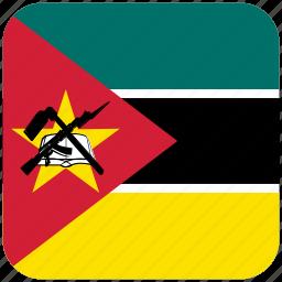 flag, mozambique icon