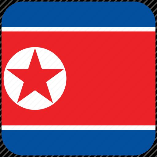 flag, north korea icon