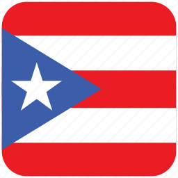 flag, puerto rico icon