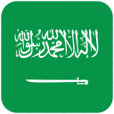 flag, saudi arabia icon