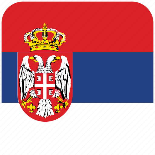 flag, serbia icon
