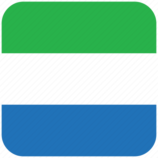 flag, sierra leone icon