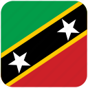 flag, st kitts nevis icon