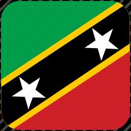 flag, st kitts nevis icon
