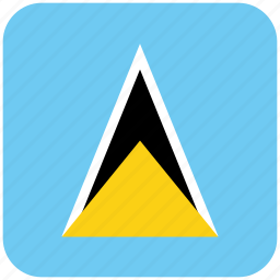 flag, st lucia icon