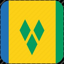 flag, st vincent icon