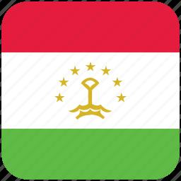 flag, tajikistan icon