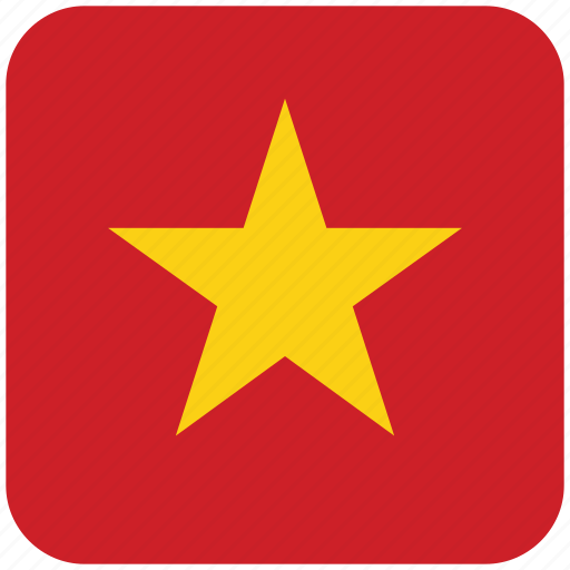 flag, vietnam icon