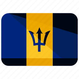 barbados, country, flag icon