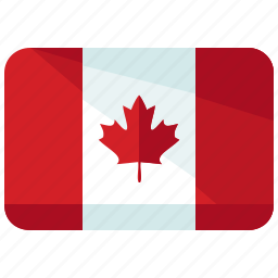 america, canada, country, flag, location, map, world icon