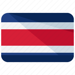 america, costa, country, flag, map, rica, world icon