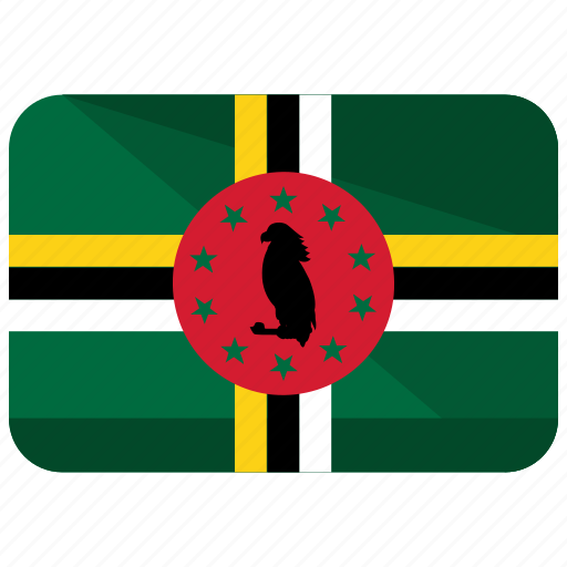 america, country, dominica, flag, location, map, world icon