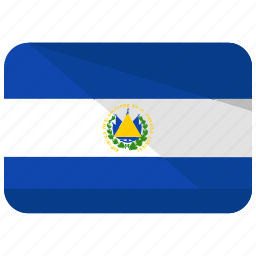 country, flag, salvador icon